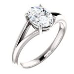 8x6mm oval solitaire engagement ring