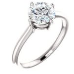7mm Roung Solitaire Engagement Ring
