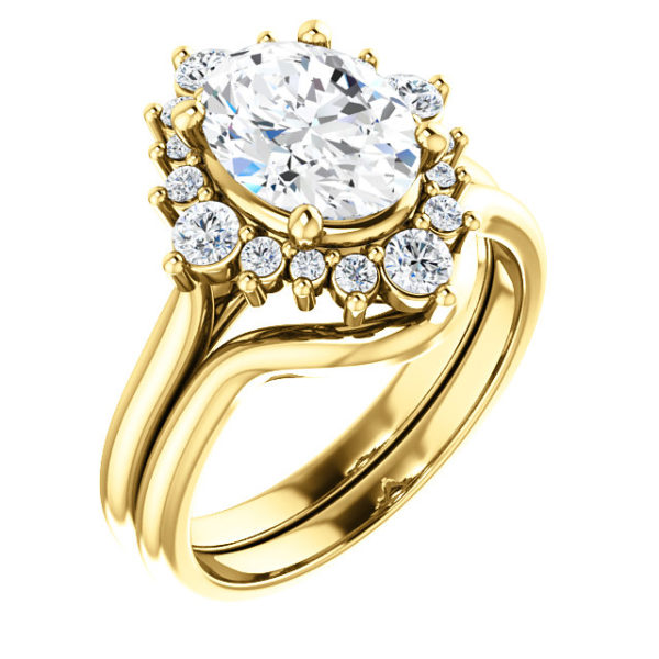 14K Yellow 9x7 mm Oval Engagement Ring